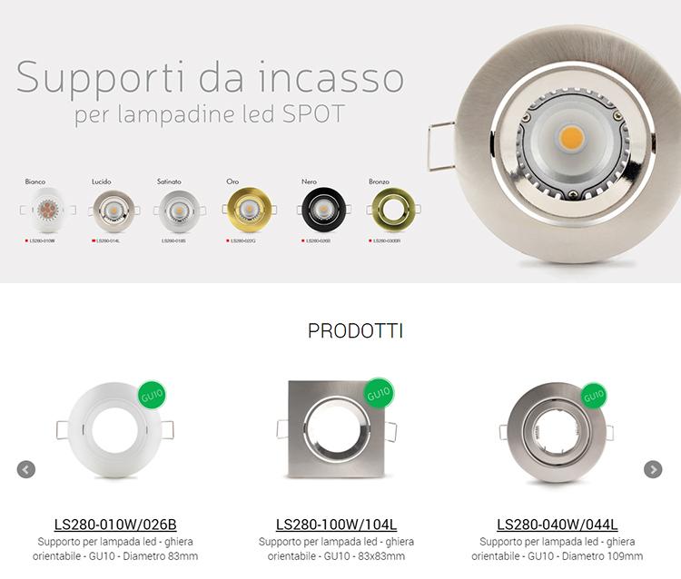 Supporti da incasso - Serie LS280